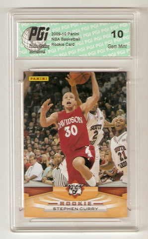 2009-10 Stephen Curry Panini #372 Davidson Rookie Card PGI 10