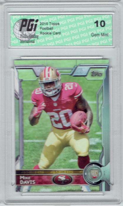 Mike Davis 2015 Topps Football #450 San Francisco 49ers  Rookie Card PGI 10