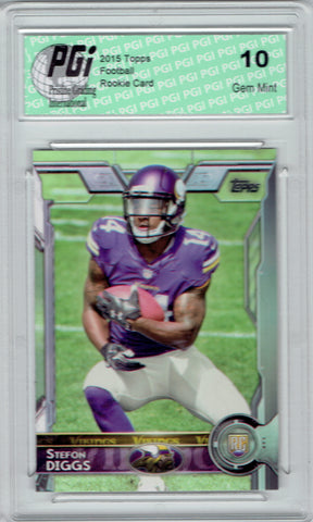 Stefon Diggs 2015 Topps Football #452 Minnesota Vikings  Rookie Card PGI 10