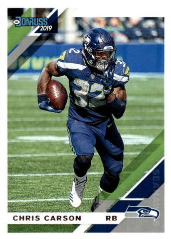 Chris Carson 2019 Donruss Football 48 Card Lot Seattle Seahawks #228