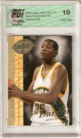 Kevin Durant 2007-08 Upper Deck 20th Rookie Card PGI 10