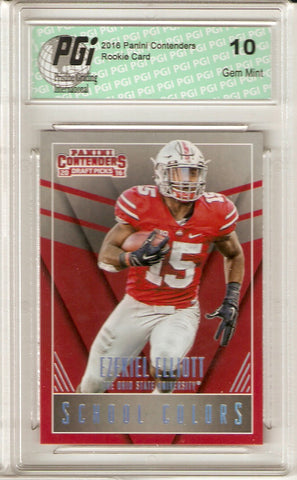Ezekiel Elliott 2016 Contenders #5 School Colors Rookie Card PGI 10