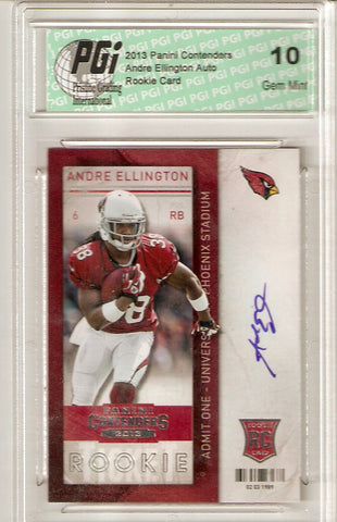 Andre Ellington 2013 Playoff Contenders Auto Rookie Ticket Card PGI 10