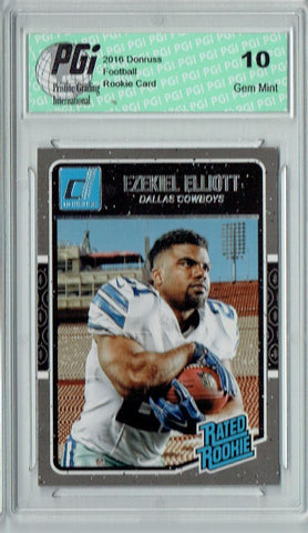 Ezekiel Elliott 2016 Donruss Rated Rookie #368 SP Rookie Card PGI 10