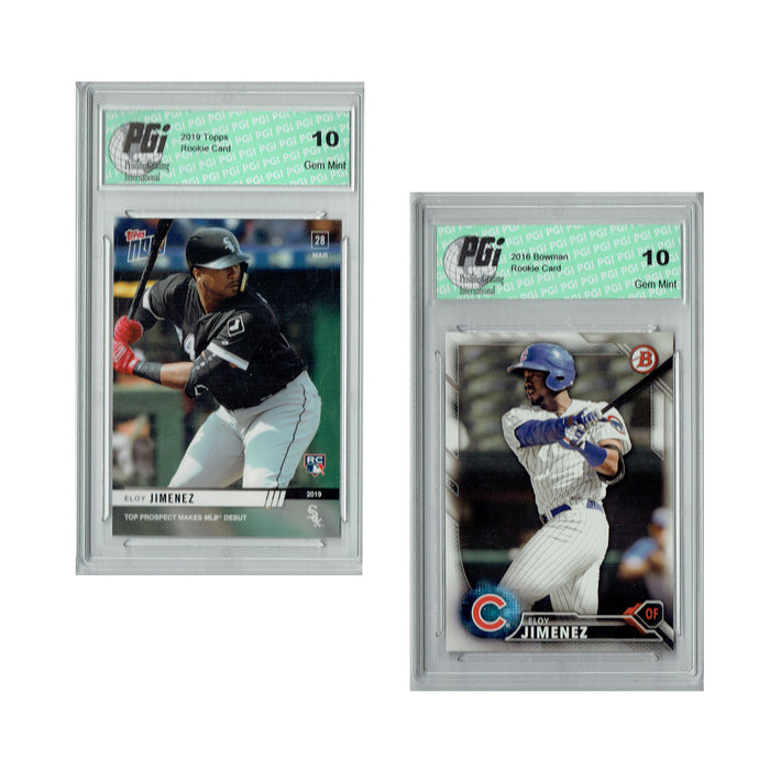 Eloy Jimenez 2016 Bowman #BDP-191 & Topps Now #17 Rookie Card 2-Pack PGI 10