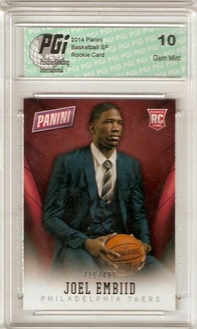 Joel Embiid 2014 Panini National Convention Only 499 Made Rookie Card PGI 10