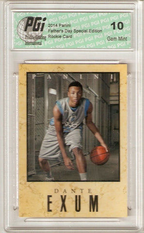 Dante Exum Jazz 2014 Panini Father's Day SP Marble Border Rookie Card PGI 10