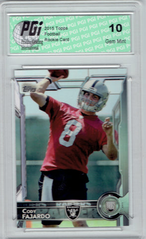 Cody Fajardo  2015 Topps Football #411 Oakland Raiders Rookie Card PGI 10