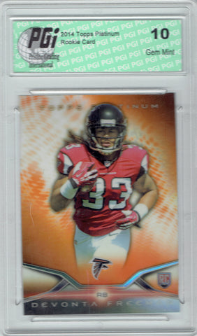 Devonta Freeman 2014 Topps Platinum Orange Refractor Rookie Card PGI 10