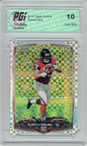 Devonta Freeman 2014 Topps Chrome X-Fractor Rookie Card PGI 10