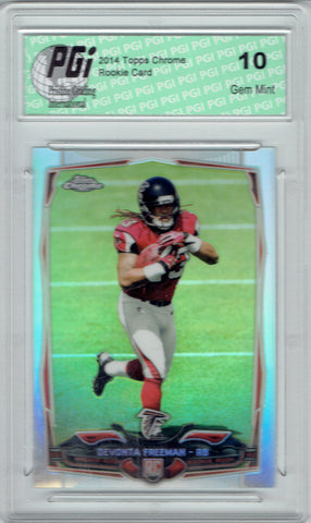 Devonta Freeman 2014 Topps Chrome Refractor Rookie Card PGI 10