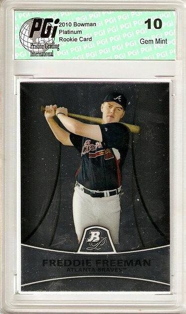 Freddie Freeman 2010 Bowman Platinum Rookie Card PGI 10