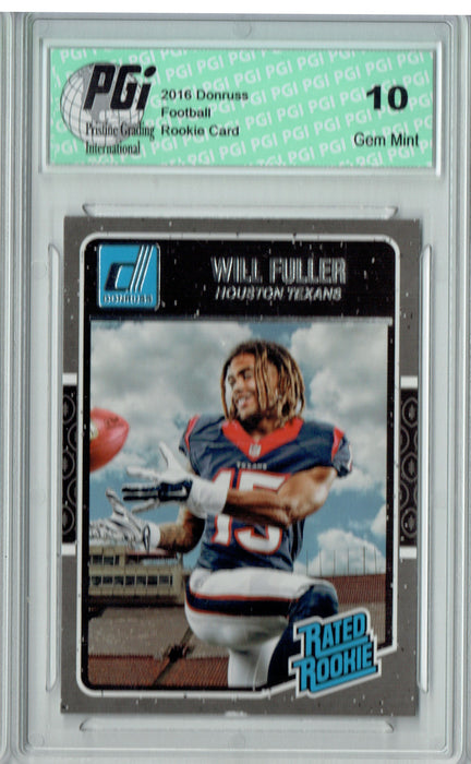 Will Fuller 2016 Donruss #400 SP Rookie Card PGI 10