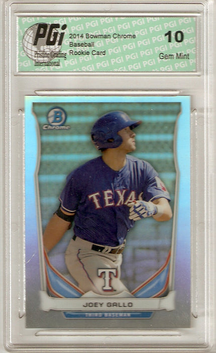 2014 Bowman Chrome Rookie Card Refractor #CTP-80 Joey Gallo PGI 10