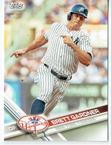 Brett Gardner 2017 Topps Baseball 25 Card Lot New York Yankees #NYY-11