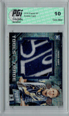 Jared Goff 2016 Panini SP #7 Towel Swatch, Only 10 Made Rookie Card PGI 10