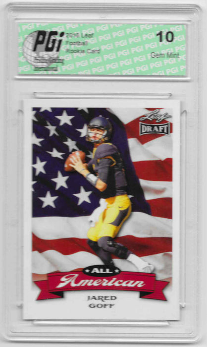 Jared Goff 2016 All-American Leaf Draft #AA07 Rookie Card PGI 10 Cal Bears
