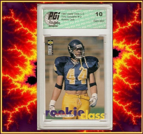 1997 Upper Deck Choice Tony Gonzalez Rookie Card PGI 10