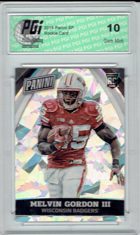 Melvin Gordon 2015 National VIP #81 Cracked Ice Rookie Card 25 Made