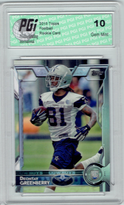 Deontay Greenberry 2015 Topps Football #404 Dallas Cowboys Rookie Card PGI 10
