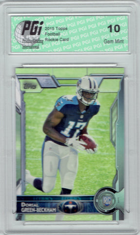 Dorial Green 2015 Topps Football #477 Tennessee Titans Rookie Card PGI 10