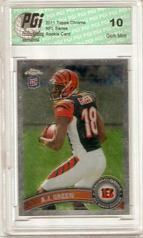 A.J. Green Bengals 2011 Topps Chrome Rookie Card #150 PGI 10