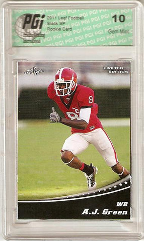A.J. Green 2011 Leaf Limited Black Rookie Card PGI 10