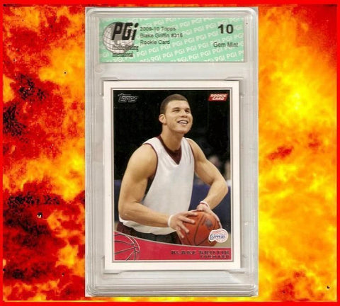 2009-10 Blake Griffin Topps Clippers Rookie Card NBA Graded PGI 10