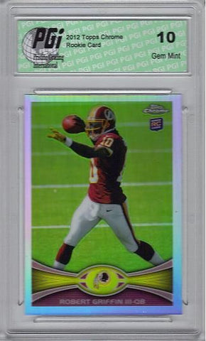 Robert Griffin 2012 Topps Chrome Refractor #200 Rookie Card PGI 10
