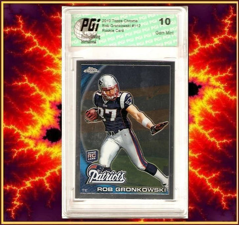 Rob Gronkowski TE 2010 Topps Chrome Rookie Card PGI 10