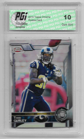 Todd Gurley 2015 Topps Chrome SSP Variation Rookie Card #110 PGI 10 Rams