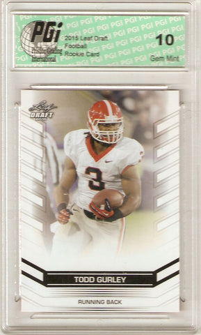 2015 Leaf Draft Rookie Card #11 Todd Gurley PGI 10