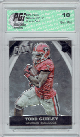 Todd Gurley 2015 Panini National VIP SP Rookie Card #85 PGI 10