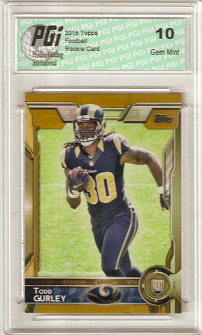 Todd Gurley 2015 Topps Gold Rookie Card #422 Only 2015 Made PGI 10