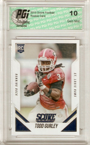 2015 Score Rookie Card #386 Todd Gurley PGI 10