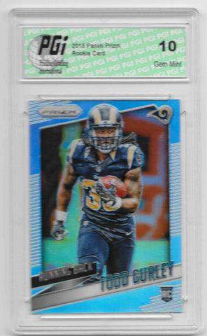 2015 Todd Gurley Panini Prizm Refractor Rookie Card Cracked Ice SP #10 PGI 10