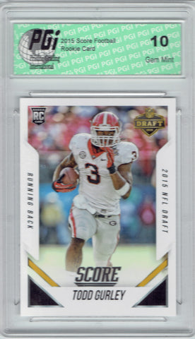 Todd Gurley 2015 Score Draft Exclusive #DP6 Rookie Card PGI 10