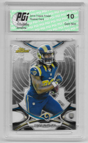 Todd Gurley 2015 Topps Finest #85 Rookie Card PGI 10 Los Angeles Rams