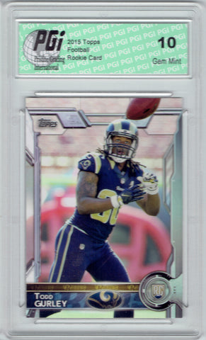 Todd Gurley 2015 Topps Photo Variation Rookie Card #422 PGI 10