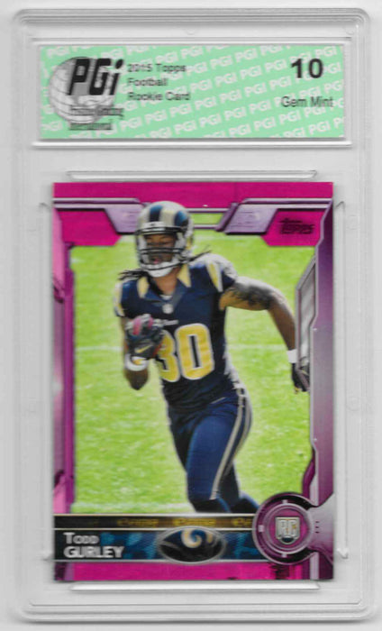 2015 Todd Gurley Topps Pink Rookie Card Only 499 Made PGI 10 Rams