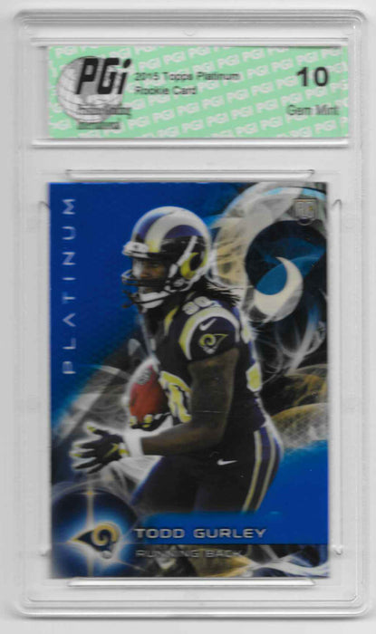 Todd Gurley 2015 Topps Platinum Sapphire Refractor Rookie Card #103 PGI 10