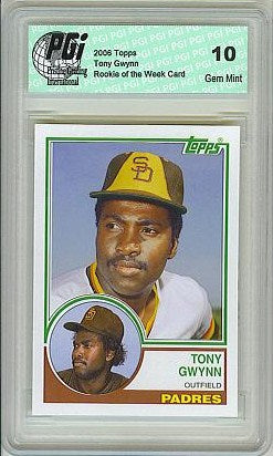 TONY GWYNN Padres Topps Rookie of the Week Card PGI 10