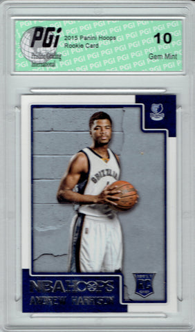 Andrew Harrison 2015 Panini Hoops #279 Rookie Card PGI 10 Grizzlies