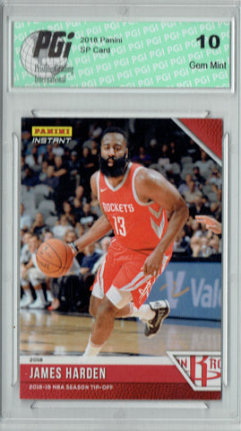 James Harden 2018 Panini Tip-Off #6, 1 of 330 Made SSP Card PGI 10