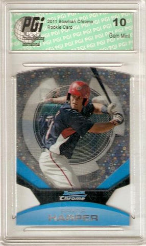 Bryce Harper 2011 Bowman Chrome Futures Bubbles Die Cut #1 SP Rookie Card PGI 10