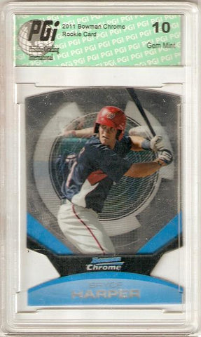 Bryce Harper 2011 Bowman Chrome Die Cut #1 SP Rookie Card PGI 10