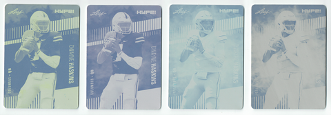 Dwayne Haskins 2019 Leaf HYPE! 4) 1 of 1 Rookie Card #20a Printing Plate Lot SSP