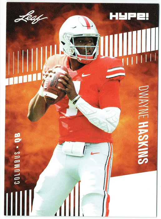 Dwayne Haskins 2019 Leaf HYPE! #20 Football 25 Rookie Card Lot Redskins