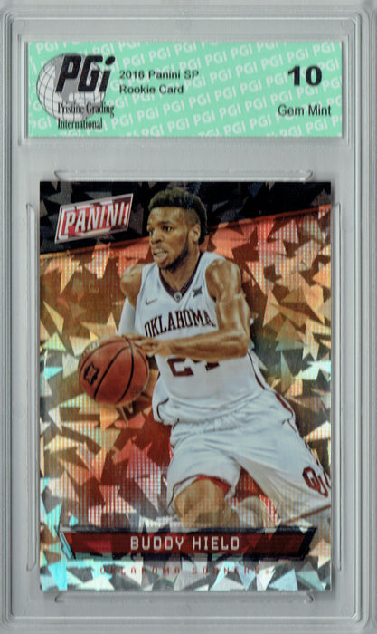 Buddy Hield 2016 Panini Cracked Ice #45 Only 25 Made Rookie Card PGI 10