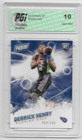 Derrick Henry 2016 Panini SP #47 SP, 599 Made Rookie Card PGI 10